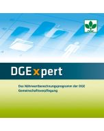 DGExpert Das Nährwertberechnungsprogramm der DGE Gemeinschaftsverpflegung Netzwerkversion (5 Lizenzen)  Version 2.0