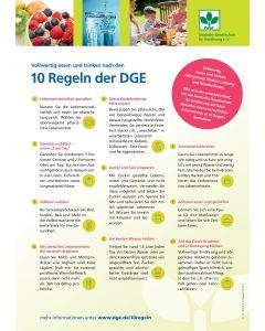 Vollwertig essen und trinken nach den 10 Regeln der DGE - Poster