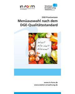 DGE-Praxiswissen Menüauswahl nach dem DGE-Qualitätsstandard