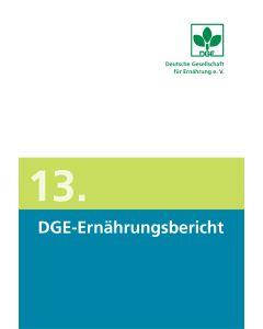 13. DGE-Ernährungsbericht, Buch inkl. CD-ROM