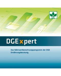 DGExpert Das Nährwertberechnungsprogramm der DGE Ernährungsberatung  Netzwerkversion (5 Lizenzen) Version 2.0