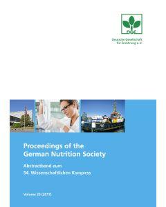 Proceedings of the German Nutrition Society – Volume 23 (2017) – Abstractband zum 54. Wissenschaftlichen Kongress