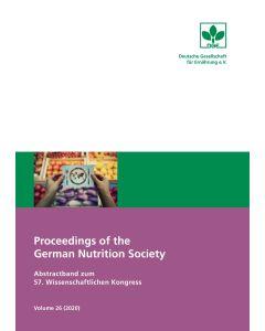 Proceedings of the German Nutrition Society – Volume 26 (2020) – Abstractband zum 57. Wissenschaftlichen Kongress