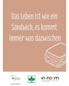 Rezeptkarte Lachssandwich (10er Pack)